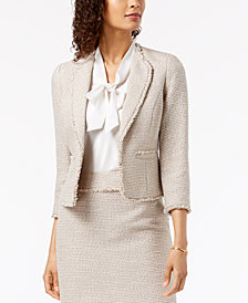 Kasper Tweed Fringed Jacket