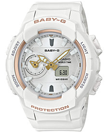 Baby-G Women's Analog-Digital White Resin Strap Watch 42.9mm