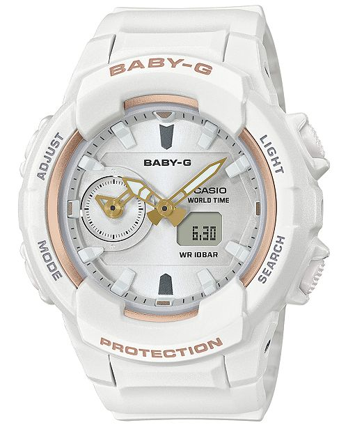aa5dc5a59 ... G-Shock Baby-G Women's Analog-Digital White Resin Strap Watch 42.9 ...