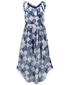 Epic Threads Big Girls Printed Tie-Back Chiffon Dress, Created for Macy's