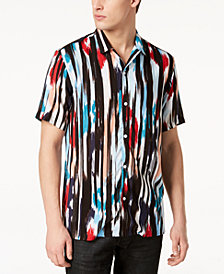 Mr. Turk X I.N.C. Men's Ikat Camp Collar Shirt, Created for Macy's