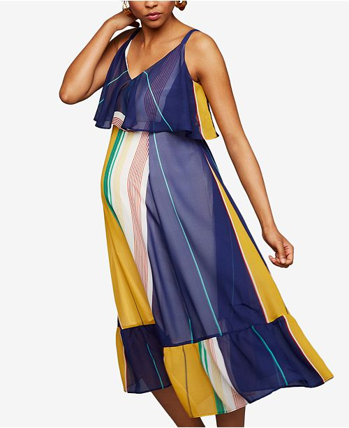A Pea in the Pod Maternity Tiered Dress
