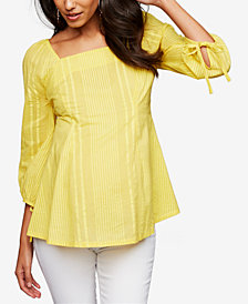 A Pea In The Pod Maternity Cotton Square-Neck Top
