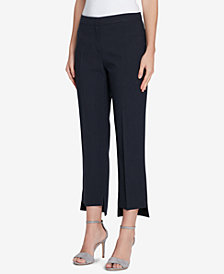 Tahari ASL Petite Pinstriped Step-Hem Pants