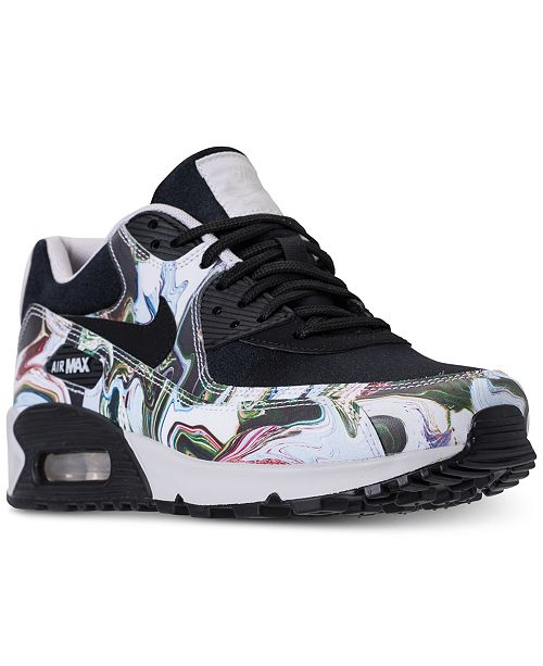 Nike Women's Air Max 90 Marble Running Sneakers from Finish