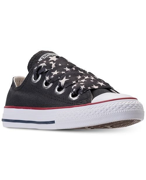94ab6a183dbb ... Converse Big Girls  Chuck Taylor All Star Big Eyelets Ox Casual Sneakers  from Finish ...