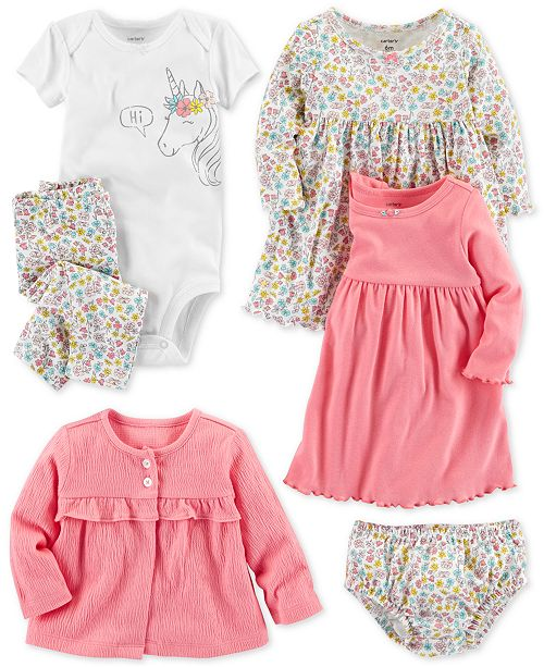 80cdadcc8e Carter's Baby Girls Floral-Print Separates & Reviews - Sets & Outfits ...