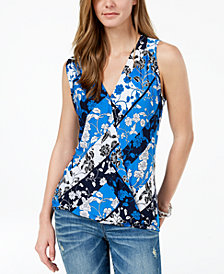 I.N.C. Petite Surplice Tank Top, Created for Macy's