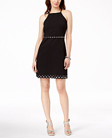 MICHAEL Michael Kors Grommeted Shift Dress