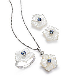 Mother-of-Pearl & Tanzanite Floral Jewelry Collection