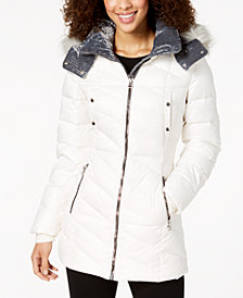 Marc New York Faux-Fur-Trim Puffer Coat
