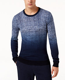 Michael Kors Men's Dip Dye Checked Sweater