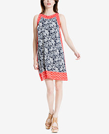 Max Studio London Printed Trapeze Dress, Created for Macy's