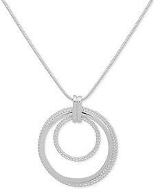 "Nine West Triple Circle 36"" Pendant Necklace"