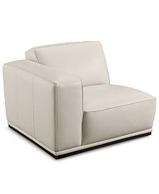 "Zeraga 40"" Leather Modular Chair, Created For Macy's"