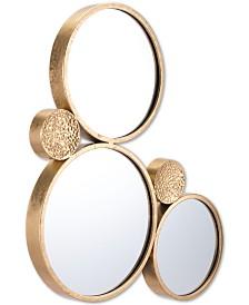 Zuo Tri-Circular Gold-Tone Mirror