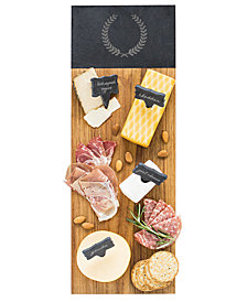 Cathy's Concepts Personalized Acacia & Slate Charcuterie Serving Board with Slate Markers