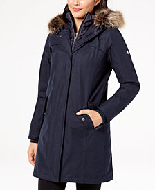 Barbour Faux-Fur-Trim Waterproof Parka