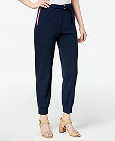 Monteau Petite Striped Ankle Pants