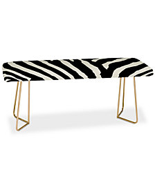 Deny Designs Natalie Baca Zebra Stripes Bench