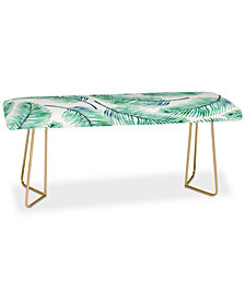 Deny Designs 83 Oranges Palms Watercolor Bench