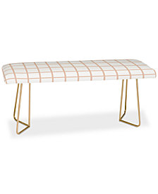 Deny Designs Little Arrow Design Co Blush Grid Bench