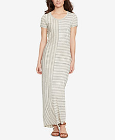 WILLIAM RAST Striped T-Shirt Maxi Dress