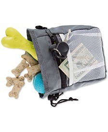 "Dog Treat Bag 4-Way Wear Pouch with Drawstring Closure, 7"" x 3"" x 7"""