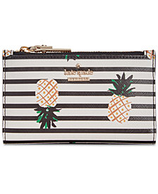 kate spade new york Striped Pineapple Mikey Wallet