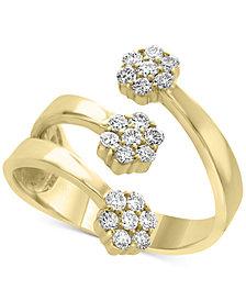 D'oro by EFFY® Diamond Cuff Statement Ring (5/8 ct. t.w.) in 14k Gold