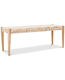 Ferina Weave Bench, Quick Ship