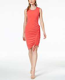 Bar III Ruched Bodycon Dress, Created for Macy's