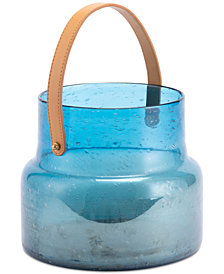 Zuo Translucent Blue Glass Large Lantern