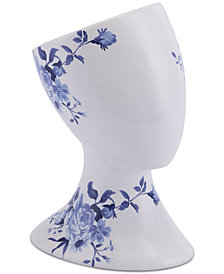 Zuo Rostro White & Blue Right-Facing Sculpture