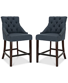 Folino Fabric Counter Stool (Set Of 2), Quick Ship
