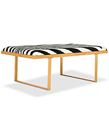 Marnel Cowhide Bench, Quick Ship