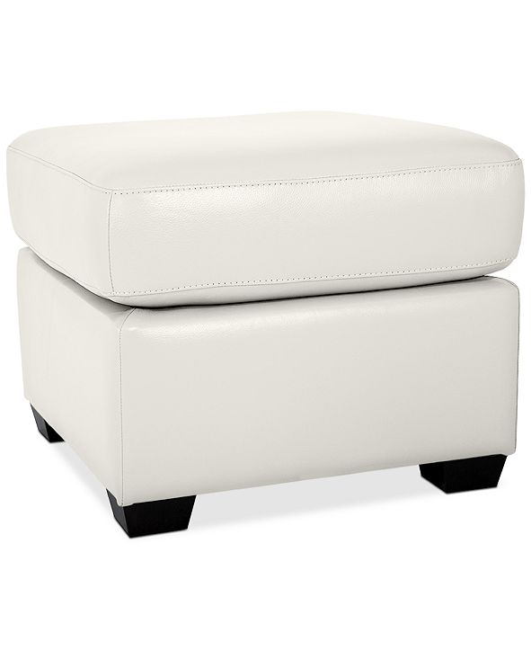 Furniture Orid Leather Ottoman, Created for Macy's