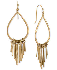 RACHEL Rachel Roy Gold-Tone Loop & Bar Chandelier Earrings