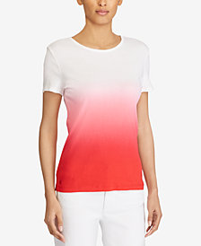 Lauren Ralph Lauren Dip-Dye Cotton T-Shirt