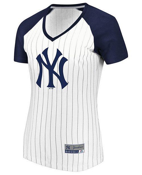 Majestic Women S New York Yankees Every Aspect Pinstripe T Shirt