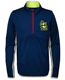 Outerstuff St. Louis Cardinals Excellence Quarter-Zip Pullover, Big Boys (8-20)