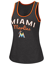 G-III Sports Women's Miami Marlins Power Punch Glitter Tank