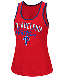 G-III Sports Women's Philadelphia Phillies Power Punch Glitter Tank