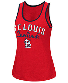 G-III Sports Women's St. Louis Cardinals Power Punch Glitter Tank