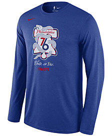 Nike Men's Philadelphia 76ers Playoff Mantra Legend Long Sleeve T-Shirt
