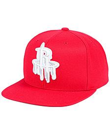 Mitchell & Ness Houston Rockets Dripped Snapback Cap