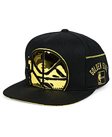 Mitchell & Ness Golden State Warriors Patent Cropped Snapback Cap