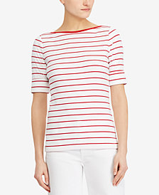 Lauren Ralph Lauren Knit Elbow-Length-Sleeve Top