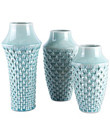 Brick Light Teal Vase Collection
