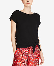 Lauren Ralph Lauren Crisscross-Back Cotton Top